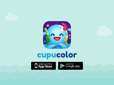 Cupucolor - Creative and educational children's coloring game game studio junoteam junoapps art for kid color game color app coloring cutting cut paiting puzzle game for kid kid game game cupucolor