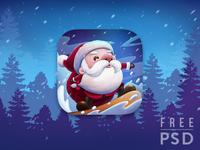 Free PSD Christmas Santa app icon