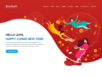 Lunar New Year Animation Header web header header animation header 2019 creative company junoteam chung chung cake traditional clothes ao dai vietnam new year lunar lunar newyear tet
