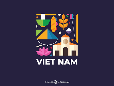 Vietnam happy icons cartoon nature template icon business abstract abstract background lotus bread pho noodle pho travel logo travel vietnam symbols country logo vietnam logo vietnamese vietnam logo