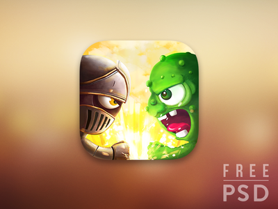 Free PSD Battle app icon iconsgarden junoteam icon psd free icon free psd freebie evil zombie fighter knight monster match versus combat fighting cistercian war game battle