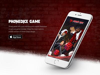 Phone Dice game design rapper phonedice logo junoteam ios icon hiphop game eminem dice app 50cents
