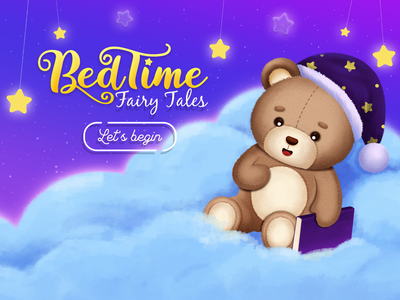Bedtime Fairy Tales - Animation stories for Kids education app reading app cloud bear teddy fable story kids story story for kids animation story fairy tale bedtime story bedtime stories