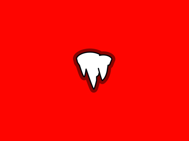 Demon Tooth Logo or Stalactite Icon simplistic minimalistic demonic evil logomark icon stalactite root tooth