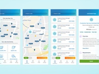 Mobile Landing, Map, List, and Details Screen