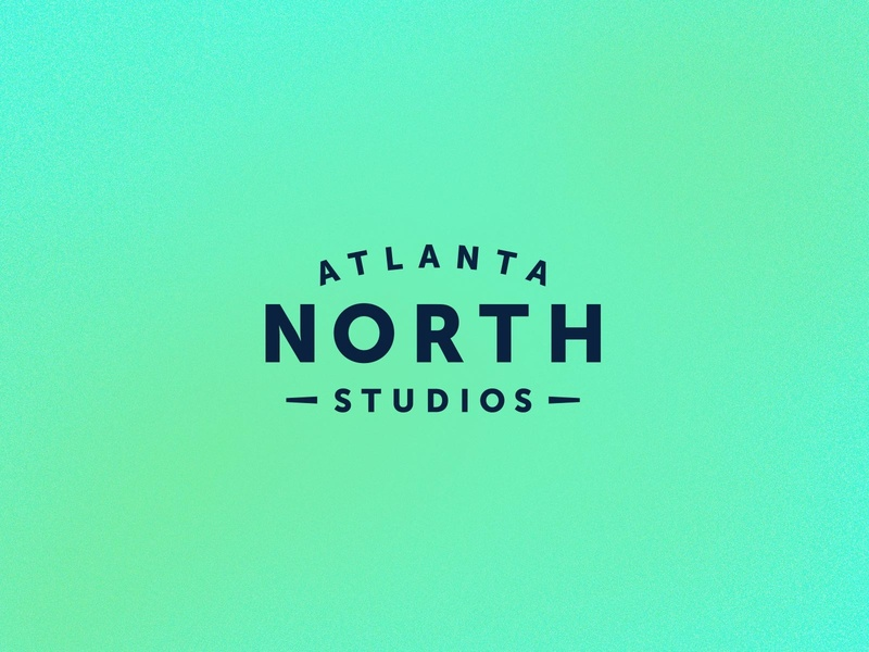 Atlanta North Studios atlanta word-mark san serif gotham typography studio logo