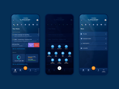 Mobile Dark Mode & Maritime Theme ad tech beach mobile design mobile ui mobile navigation dark theme dark mode mobile app design mobile app mobile