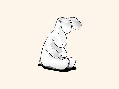 rabbit flat illustration