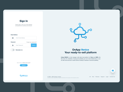 Cloud Management - Landing Page product design webdesign icon illustration ux ui design dashboard web app cloud management tablet