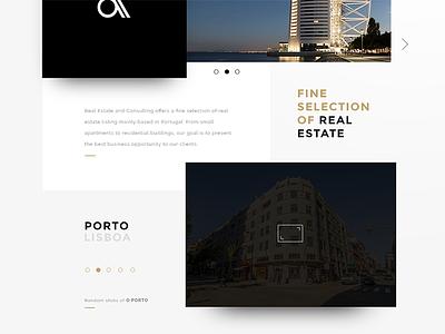 Real Estate landingpage webdesign ux ui real estate