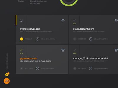 Cloud management web app stats ui cards ui grid layout cloud app dashboard ui
