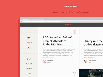 News portal news media portal ios ipad iphone responsive showcase styleguide icon