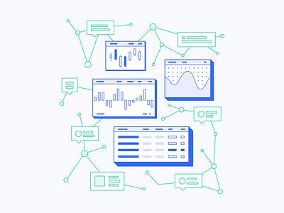 Emotional Data Analytics analytics graph data vector ui isometric illustration