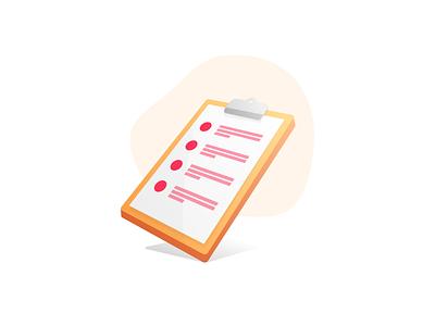 Creating a Workflow checklist ux design illustration