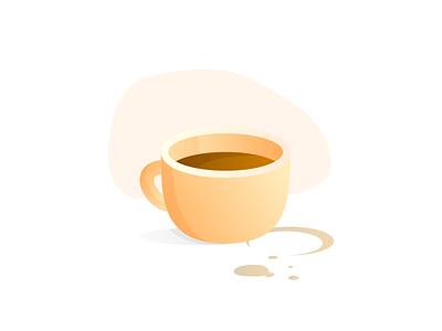 Coffee Break gradient coffee design illustration