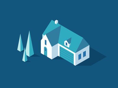 Smart Home smart home tree house isometric design illustration