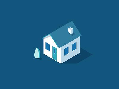 Little House vector illustration energy smart isometric house home