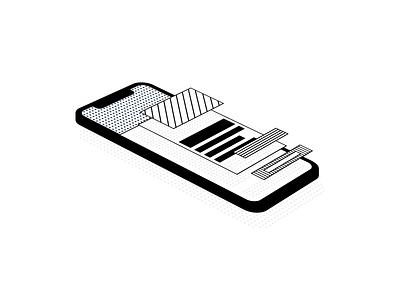 Floating UI System wireframe device design system smartphone iphone design ux vector ui illustration