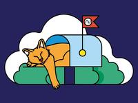 Mailbox Cat - Color