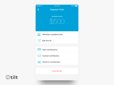 Tilt: Organizer Tools | iOS