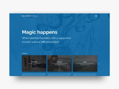 Seabed VC: Homepage | Desktop Web