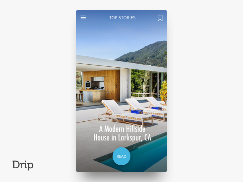 Drip | iOS san francisco iphone clean blue mobile ui design ios