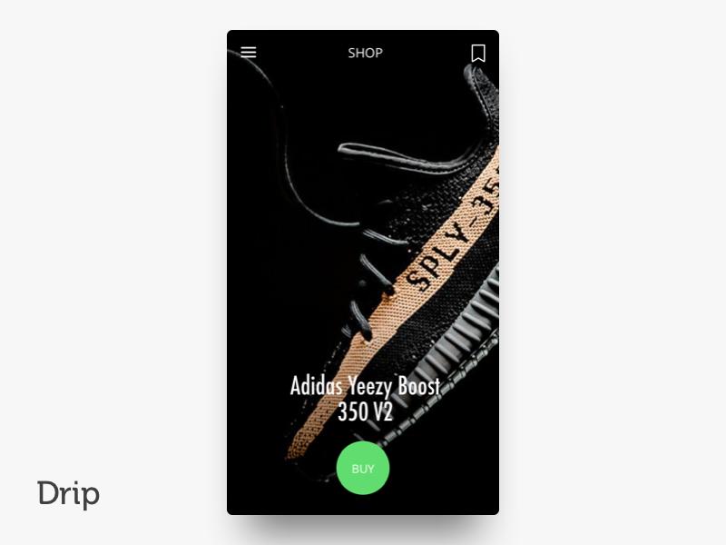 Drip | iOS san francisco iphone clean button mobile ui design ios