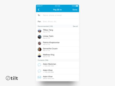 Tilt: Send Money | iOS