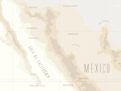 map of mexico map custom illustration detail mexico mountains