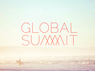 global summit global summit meeting logo type thin summer mountains identity