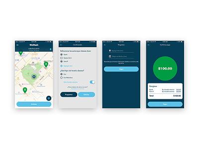Request Redesign WeWash App redesign ui ios app