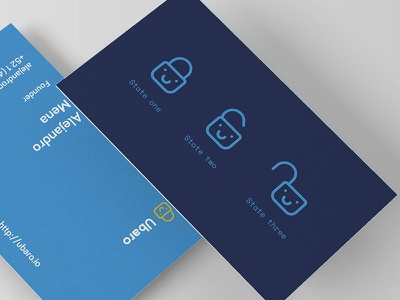 Ubaro Business Cards padlock business cards logo brand