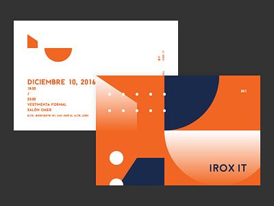 Irox IT Invitation geometric paper flat invitation