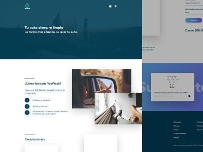 WeWash Clients header landing page landing ui