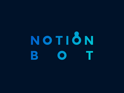 Notion Bot Logotype branding logotype logo bot