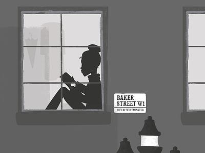 London reading illustration art baker street london