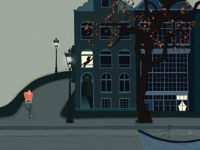 Amsterdam illustration biking cycling netherlands dutch amsterdam