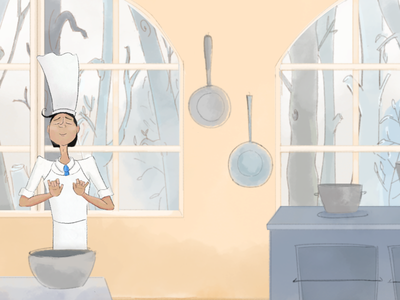 The art of cooking animation cuisine le chef chef cooking photoshop character design illustration