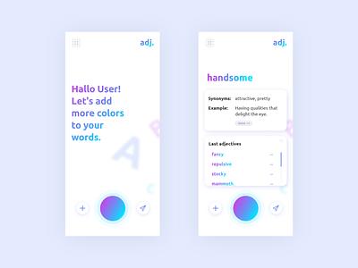 adj. App Update ui ux design ui ux uiux interface design adjectives munich münchen minimal web design user interface app concept adobe xd ui design app design