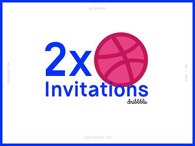 2 x Dribbble Invitations invitations invitation invite dribbble invites
