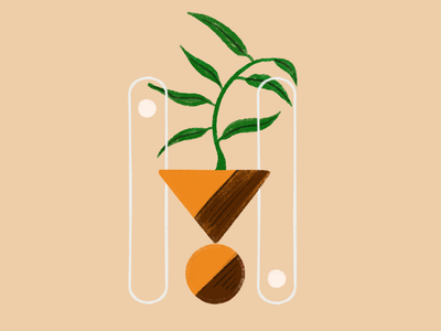 Balance and growth. flat illustration botanical illustration art illustration