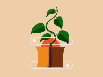 Strong roots botanical art ipadproart flat illustration illustration