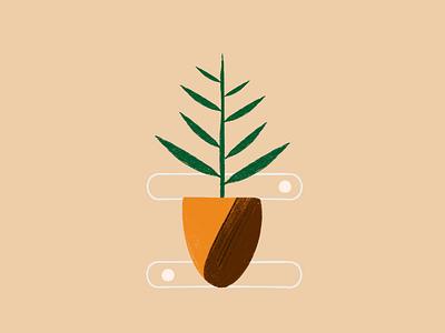 Equilibrium plant botanical art illustrator ipadproart flat illustration illustration