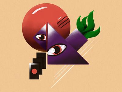 Charms texture geometry flat illustration illustration