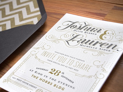 Wedding Invitation wedding invitation typography lettering script letter press