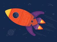 SpaceTeam Rocket Illustration
