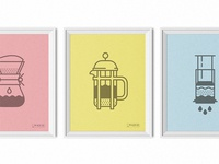 Coffee Icons posters