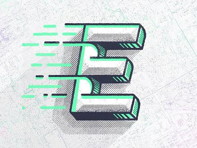 Typefight E design texture lettering letter e type typefight