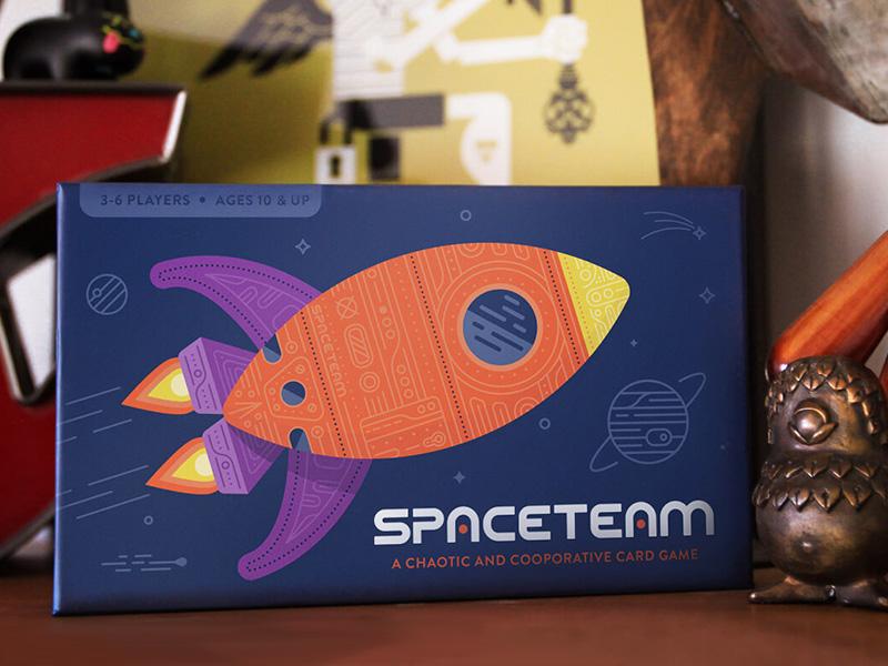 Spaceteam packaging packaging illustration cards spaceteam game