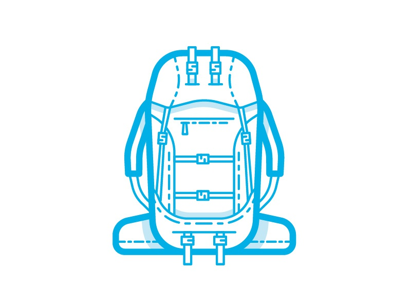 Backpack Icon backpack outdoors lines iconography icon
